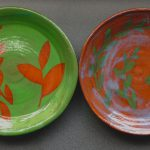 Two hand made plates