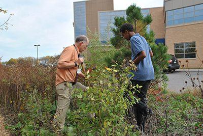 E club planting trees