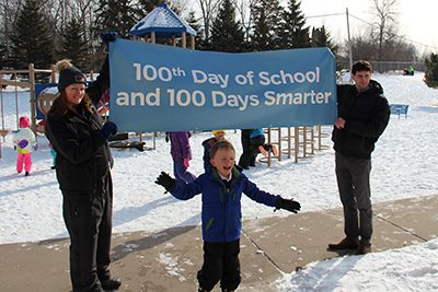 100th day of school recess celebration