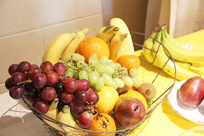 fruit spread for faculty and staff