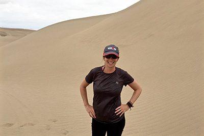 MPA alum in sand dunes
