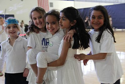 Elementary students at a dance
