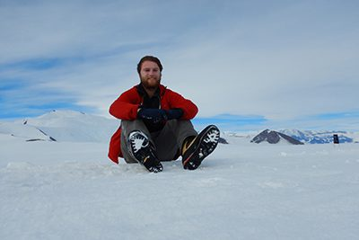 Andrew grant in Antarctica