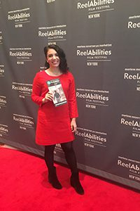 laurel Schwartz at a film festival for her documentary