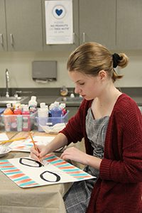 students make set pieces for the consul