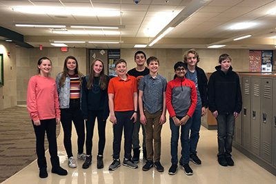 Middle School Quiz Bowl Team