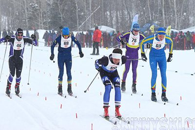 State ski participants racing