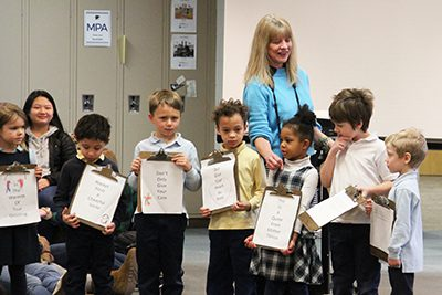 Kindergarten reading kindness quotes to upper school