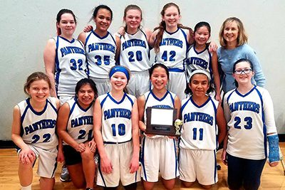 7/8 Girl's basketball team photo