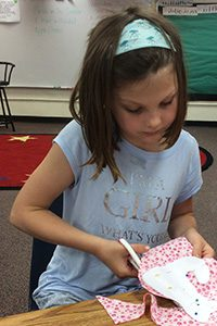 Student at the 2018 American Girl camp