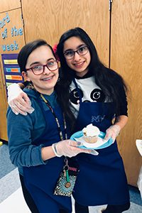 middle schools students volunteering at book festival