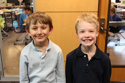 Isaac and Thomas, two second graders