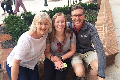 Karla and Peter Myers with their daughter Kelly