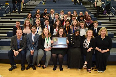 Students at section speech tournament