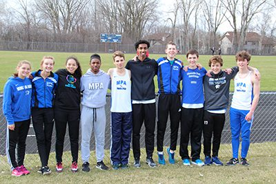 MPA seniors at the Triangular track and field meet