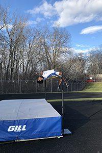 Yahya Madar doing the high jump