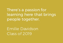 Quote about community from Emilie Davidson