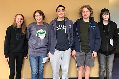 8th Grade Quiz Bowl members