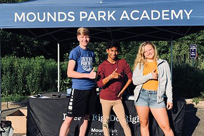 upper school volunteers at summer events