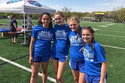 girls relay team at IMAC Championships