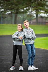 upper school track runners