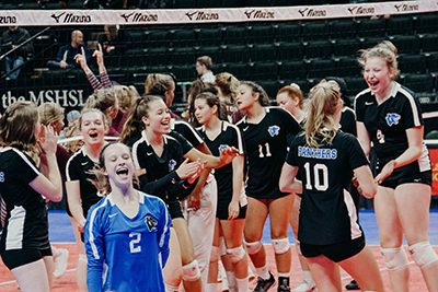 mpa volleyball at the state tournament