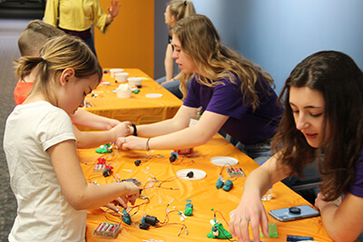 squishy circuits at maker fest 2019