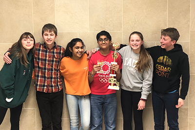 the Middle School quiz bowl team qualified for nationals