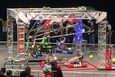 MPArors robot in a triple hang