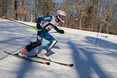 isak at the alpine ski meet