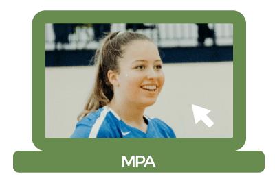 Kaija Kunze at a volleyball game