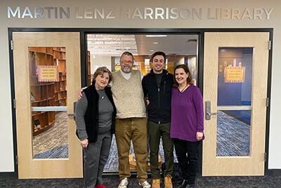 Hendrickson family visiting campus