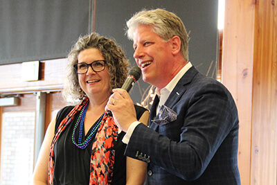 Jennifer and Scott Holloway at the 2019 spring auction