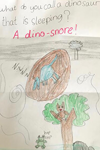 a joke written and illustrated by an MPA kindergarten student