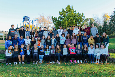 the class of 2020 group photo