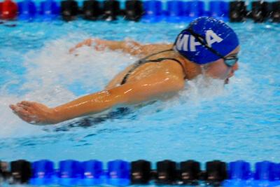 Izzy swimming
