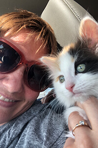 Ms. Murr and her kitten