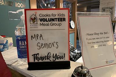 senior service sign