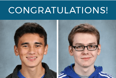 Sean and Josiah, 2020 national merit commended students