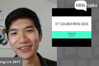 garseng wong's MPA Talks on mental health
