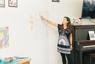 Ms. Sonka. teaching art