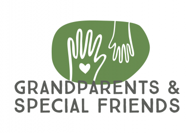 grandparents day logo of two hands and a heart