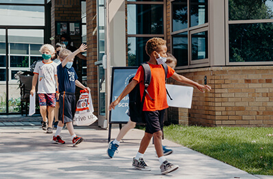 students at 2021 back to school events