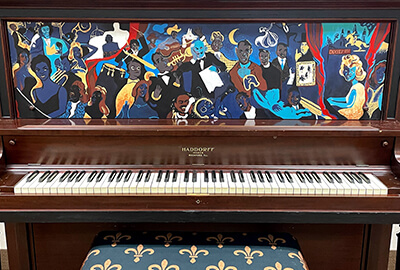 the finished painted piano