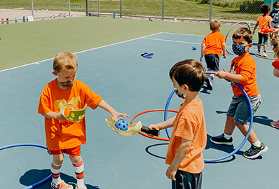 Prek students at track and field day