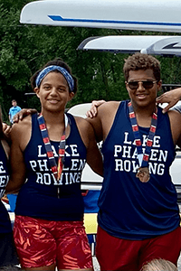 Appleton siblings with their medals
