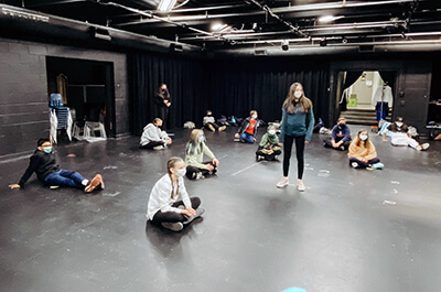 students in the black box