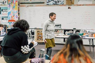 Katie murr teaching upper school social studies
